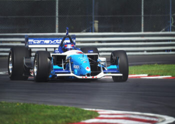 Indy car on track