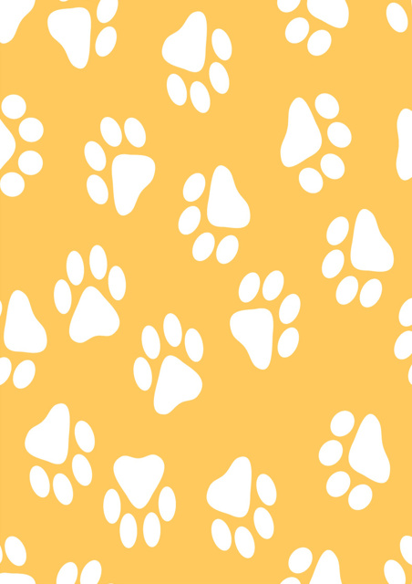 White paws with yellow background