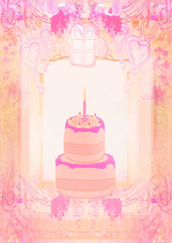 Pastel shades birthday cake