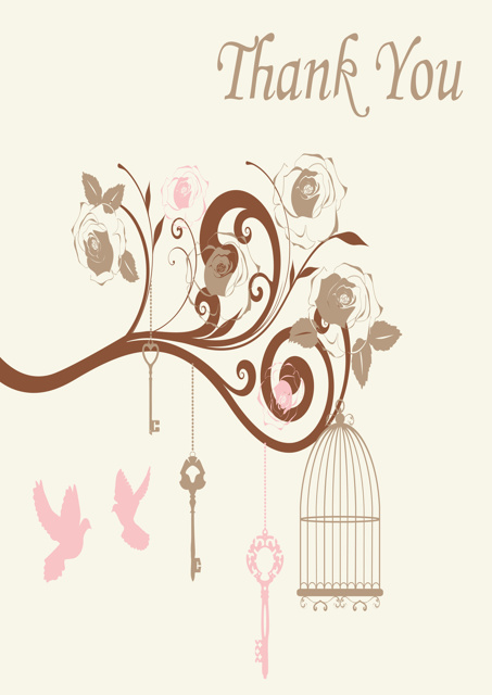 Birds and bird cages with cream background