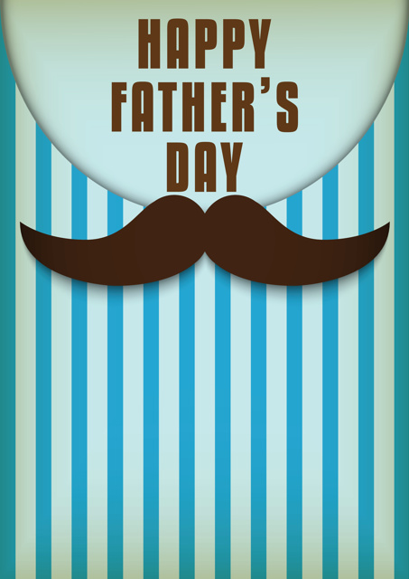 Father's Day mustache and blue stripes