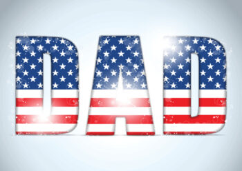 Dad stars and stripes