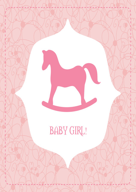Pink rocking horse new baby girl