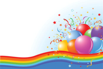 Balloons and rainbow colours