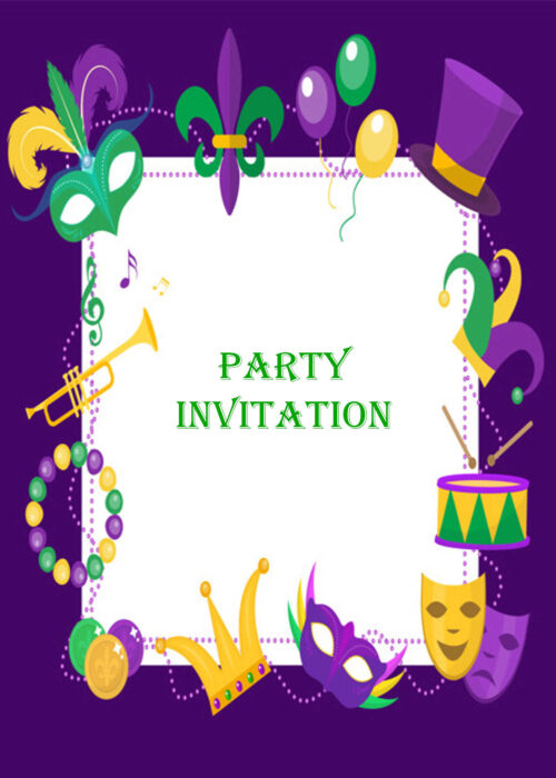 Musical and theatrical invitation