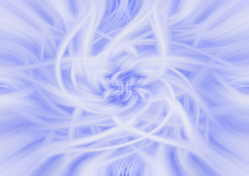 White swirls on lilac background