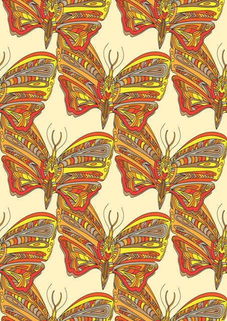 Paisley patterned butterflies
