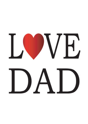 Love Dad with red heart