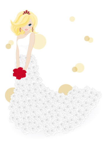Bride with white background