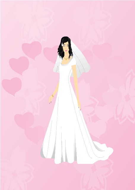 Bride with pink background