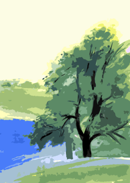 Trees at water's edge