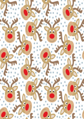 Reindeer faces with white background
