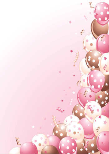 Balloons with pink background