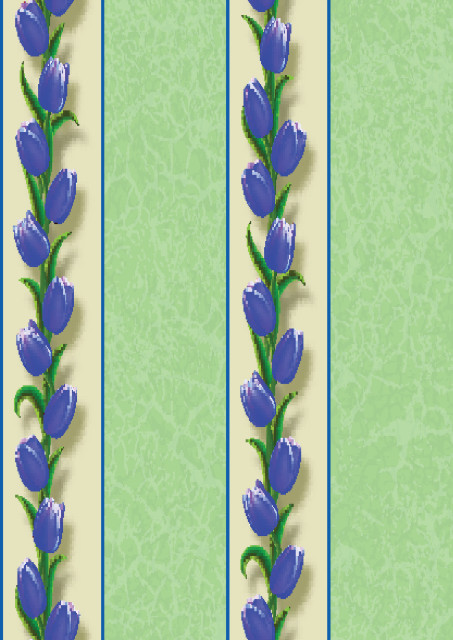 Floral design with green borders