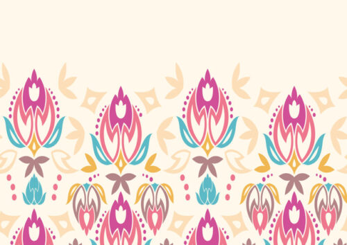 Floral design with cream background