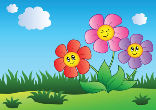 Happy colourful flowers