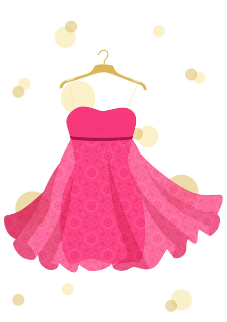 Floaty pink dress