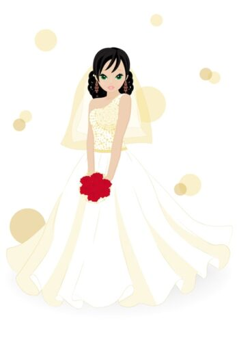 Lady wearing wedding dress