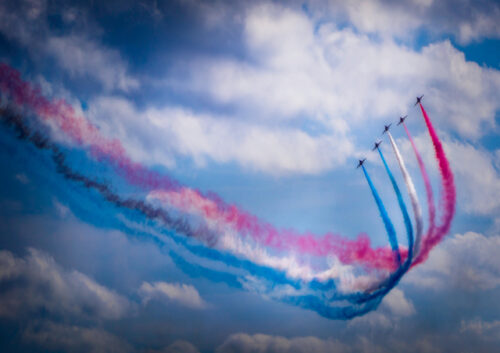 Red Arrows flying formation