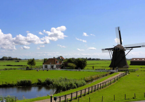 Windmill in countryside