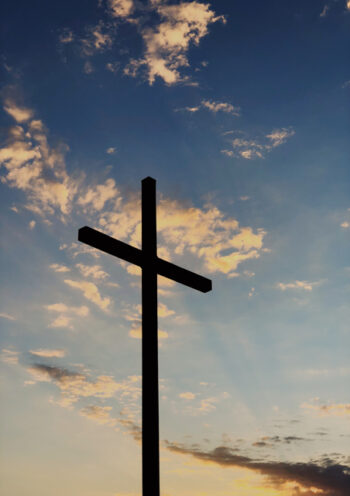 Cross with a sky background