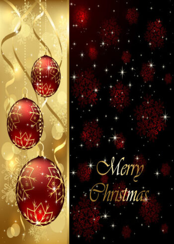 Red bauble Christmas design