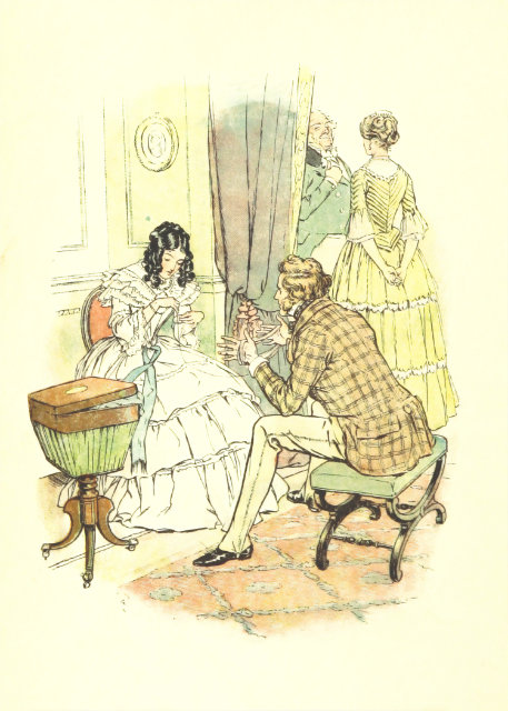 Victorian portrait of a lady and gentleman crafting