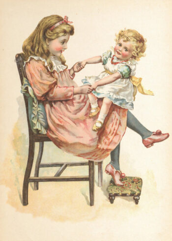 Portrait of children sitting on a chair