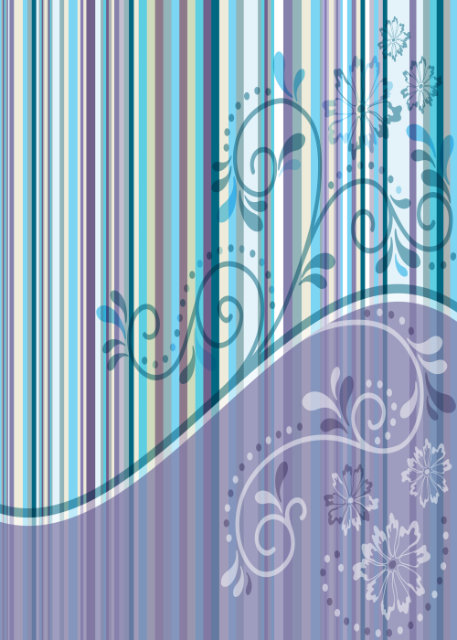Purple and blue stripes and swirls