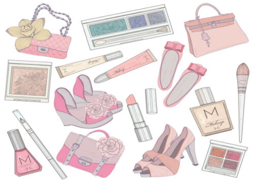 Female accessories and make up