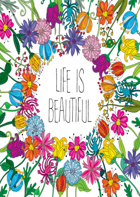 Flowers with life is beautiful