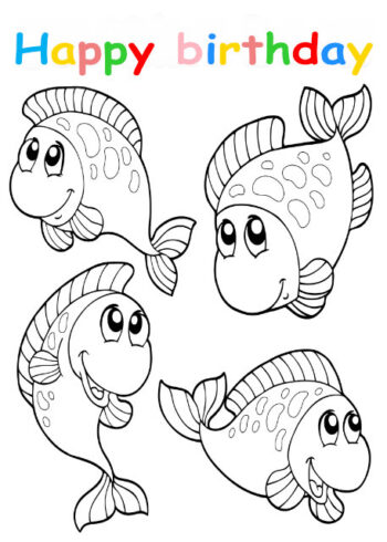 Colouring in card with fish