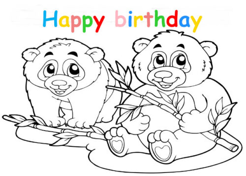 Colouring in card with pandas