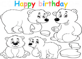 Colouring in card with polar bear
