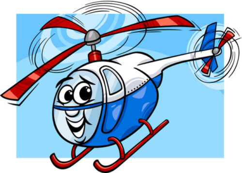 Happy helicopter birthday card