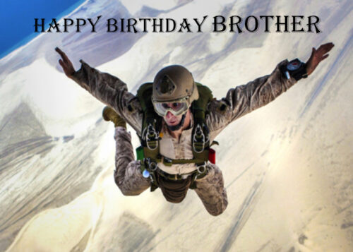 Man skydiving sport Brother birthday card