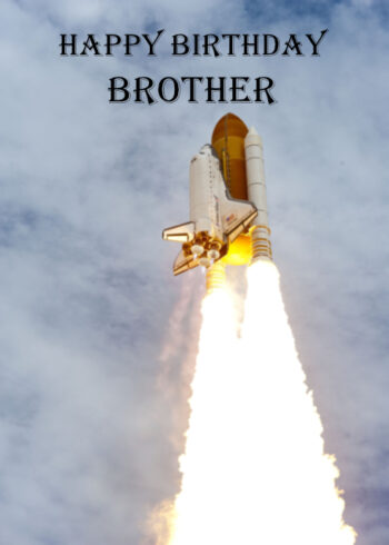 Space shuttle Brother birthday card