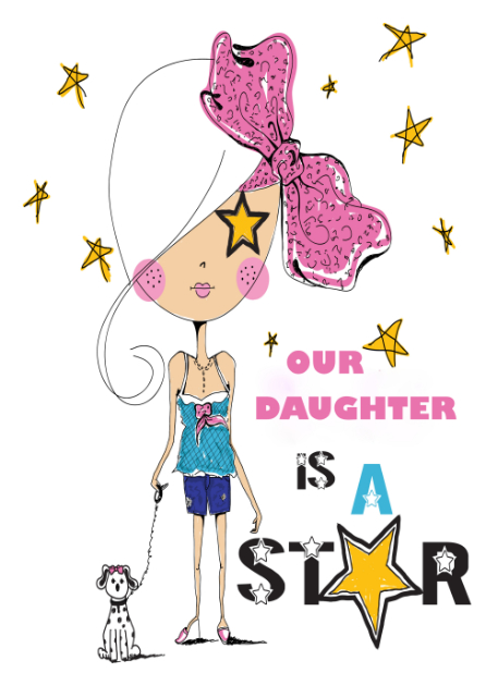 Our Daughter is a star Daughter birthday card